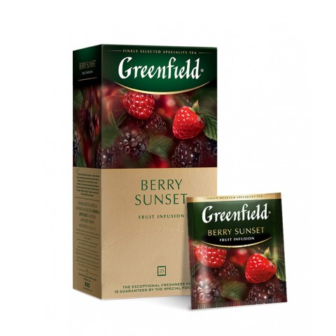 Greenfield Berry Sunset Hibiscus, Zmeură și Afine 25 x 1,5 g