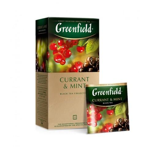 Greenfield Currant & Mint Coacăze și Mentă 25 x 1,5 g