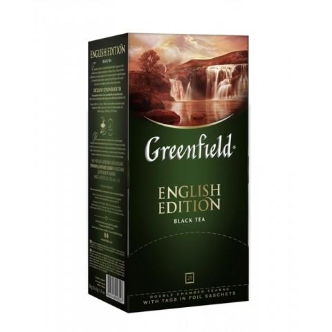 Greenfield English Edition Negru Rafinat 25 x 1,5 g
