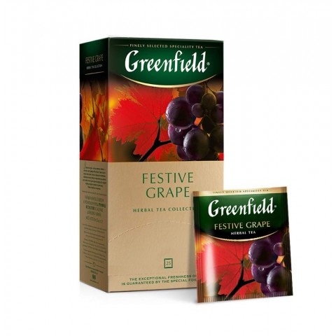 Greenfield Festive Grape Măr, Măceșe și Hibiscus 25 x 1,5 g