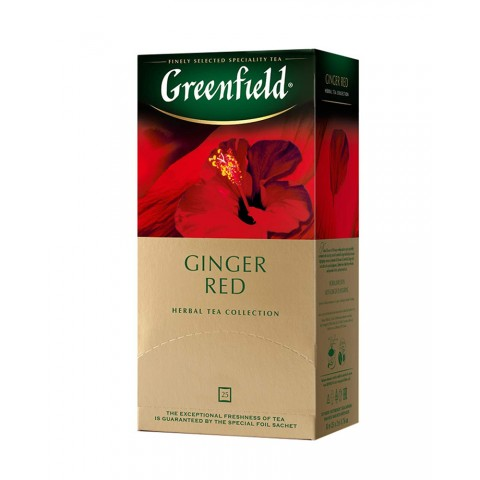 Greenfield Ginger Red Ghimbir și Hibiscus 25 x 1,5 g