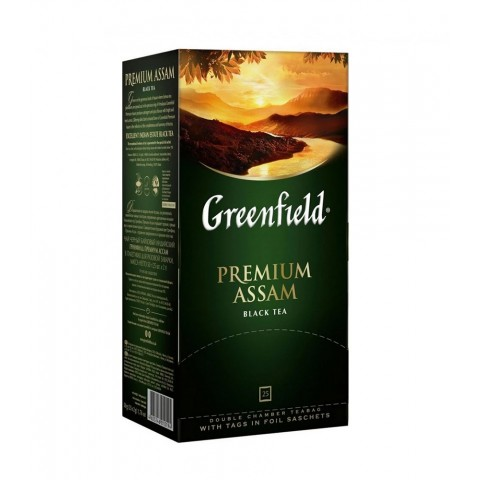 Greenfield Premium Assam Negru Clasic 25 x 1,5 g