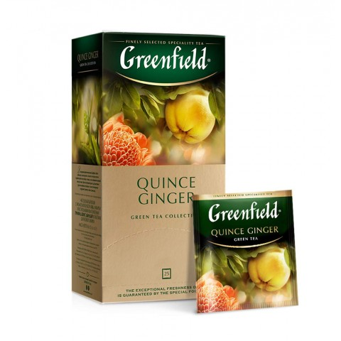 Greenfield Quince Ginger Verde Dulce-Acrișor 25 x 1,5 g