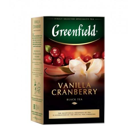 Greenfield Vanilla Cranberry Vanilie și Merișoare Coapte 100g