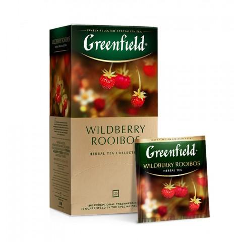 Greenfield Wildberry Rooibos Căpșuni și Afine Suculente 25 x 1,5 g