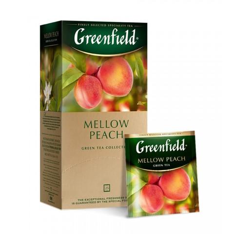 Greenfield Mellow Peach Verde cu Piersică și Coajă de Portocală 25 x 1,5 g