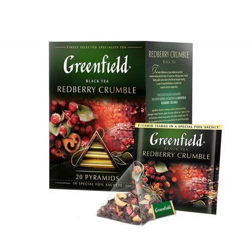 Greenfield Redberry Crumble Tartă cu Fructe 20 x 2 g