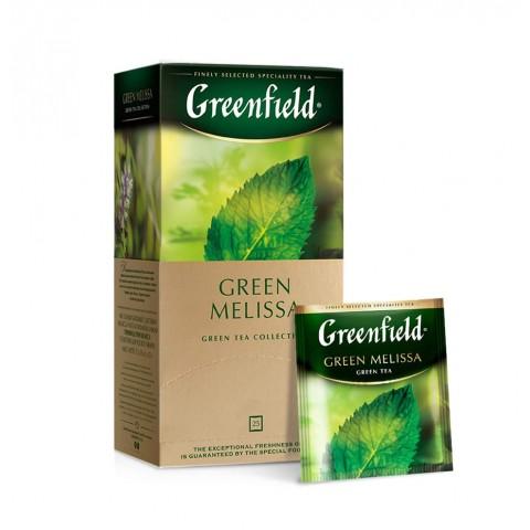 Greenfield Green Melissa Ceai Verde cu Plante Calmante 25 x 1,5 g