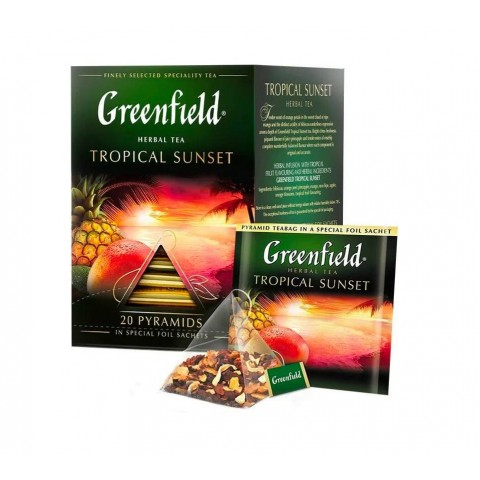 Greenfield Tropical Sunset Hibiscus și Fructe Exotice 20 x 2 g