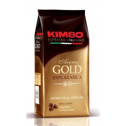 Kimbo Aroma Gold 100% Arabica 250g Boabe