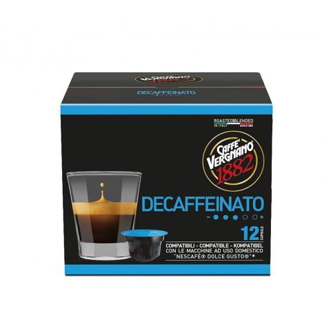 Caffe Vergnano Decaffeinato Fără Cofeină 12 capsule (compatibil Dolce Gusto) 7g